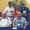 Front- Bruce Nelson and Bill Hollywood.  Back - Dale Maddy, Louise Elosa, and Barry Rittle with her book American Boys.