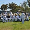 United States Navy band played for the Kearsarge association on Friday afternoon.